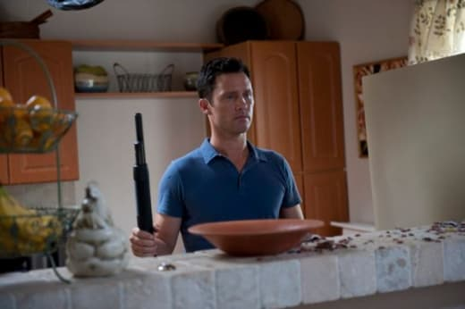 In the Kitchen, with a Shotgun
