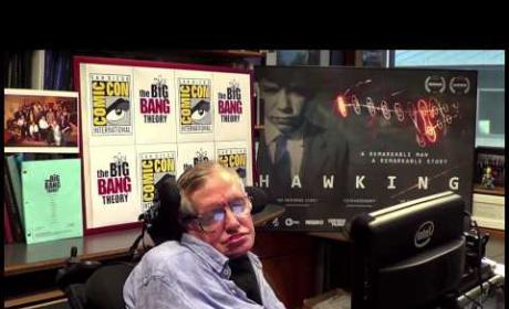 Stephen Hawking Introduces The Big Bang Theory at Comic-Con