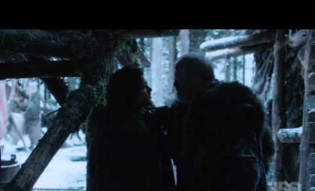 Game of Thrones Season 2 Premiere Clip: Jon Snow vs. Commander Mormont