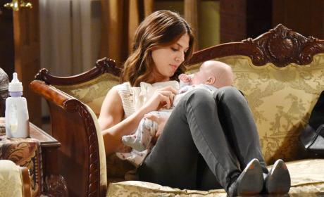 Cuddling Baby Thomas - Days of Our Lives