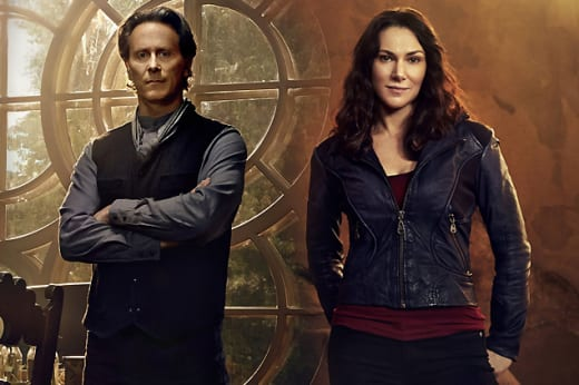 Steven Weber and Kyra Zagorsky of Helix