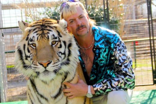 Joe Exotic and cat - Tiger King