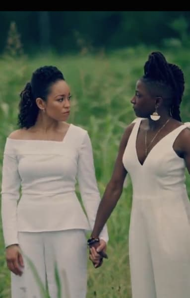 Charley and Nova in White - Queen Sugar Season 4 Episode 13