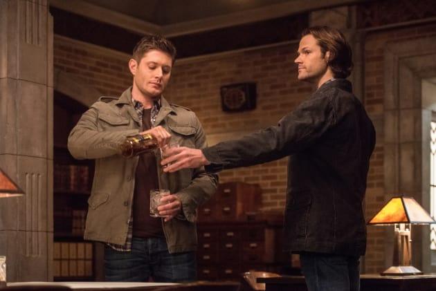 Time for a drink - Supernatural Season 12 Episode 17