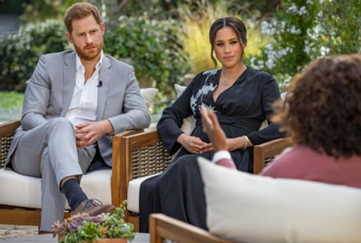 Prince Harry and Meghan Markle With Oprah