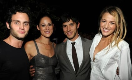 Penn Badgley and Blake Lively Strike a Pose