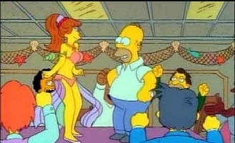 Homer and the Belly Dancer