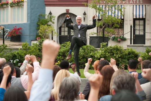 Michael Speaks to the Crowd - The Good Place Season 2 Episode 1