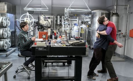Sheldon Hugs Leonard - The Big Bang Theory Season 10 Episode 15