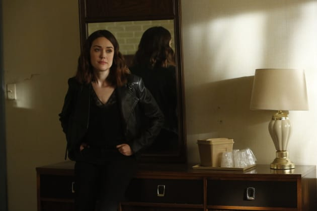 Liz posts up - The Blacklist Season 4 Episode 22