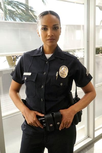 Mekia Cox as Officer Nyla Harper - The Rookie Season 2 Episode 4