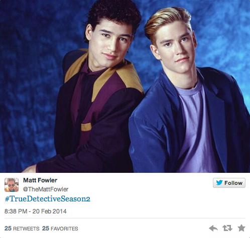 Slater and Zack for True Detective Season 2?