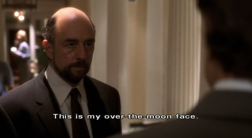 Toby Ziegler over the moon - The West Wing