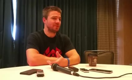 """Stephen Amell Says Oliver and Felicity are """"In a Great Place"""" on Arrow Season 6"""