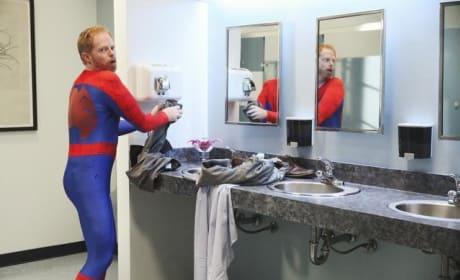 Mitchell as Spiderman