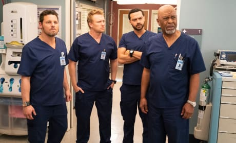 A Confused group of Guys - Grey's Anatomy Season 15 Episode 13