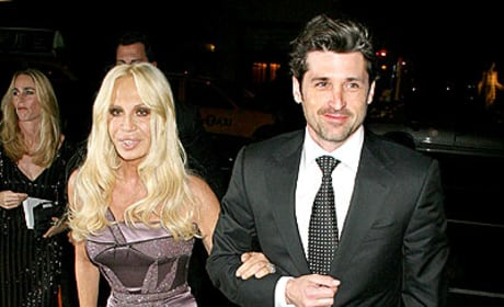 Patrick Dempsey and Donatella Versace