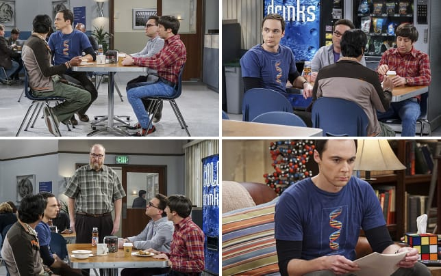 Were all friends here the big bang theory s10e9