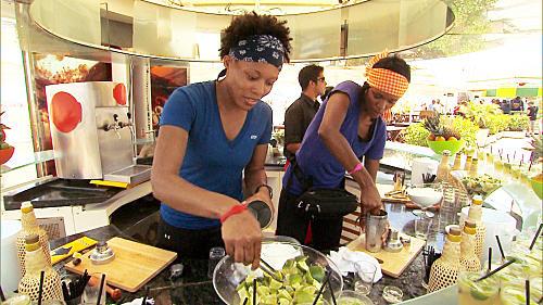 Kisha and Jen Prepare Cocktails