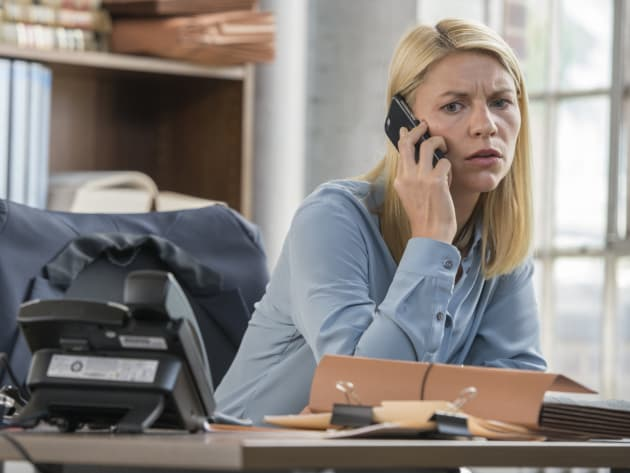 Carrie Takes a Call from Max - Homeland