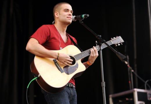 Mark Salling  on Guitar