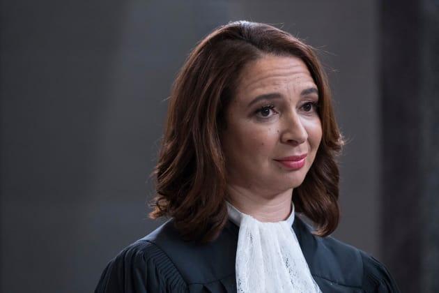 Judge Gen Close-up - The Good Place Season 2 Episode 13