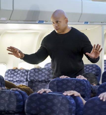 Sam on a Plane - NCIS: Los Angeles Season 8 Episode 19