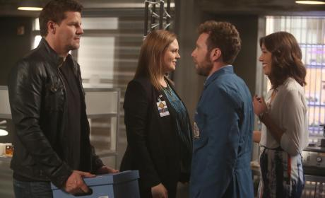 Booth and Brennan Weigh Their Options - Bones Season 10 Episode 22