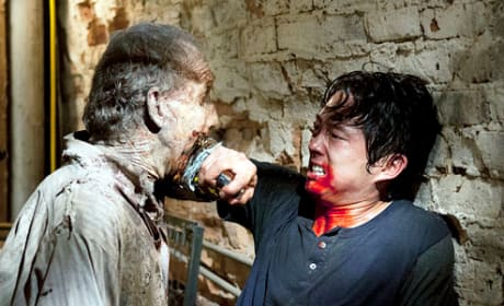 Steven Yeun on The Walking Dead