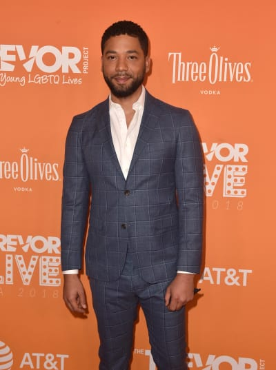 Jussie Smollett Attends Event
