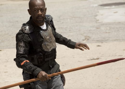 Morgan Ready to Fight - The Walking Dead