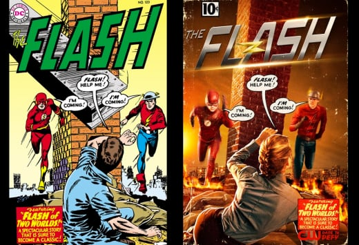 The Flash of Two Worlds Comic Cover Homage