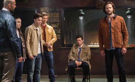 Jack, Castiel and Sam - Supernatural