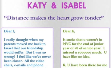 Katy and Isabel