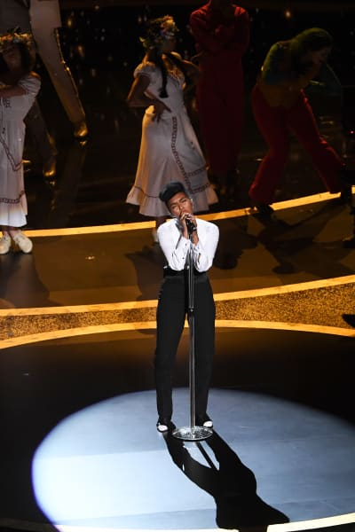Janelle Monàe Performs at the Oscars