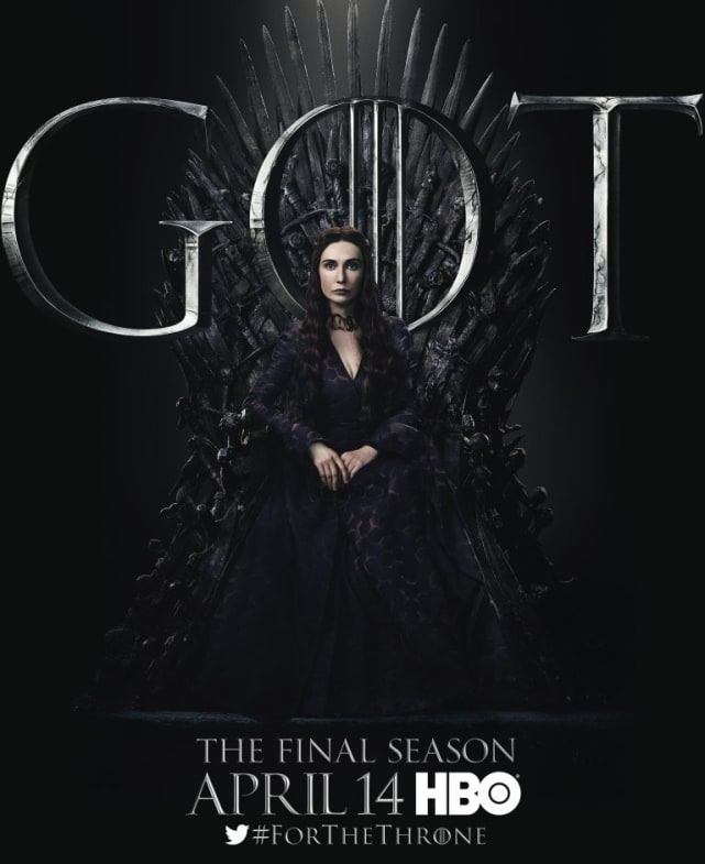 Melisandre on the Iron Throne - Game of Thrones