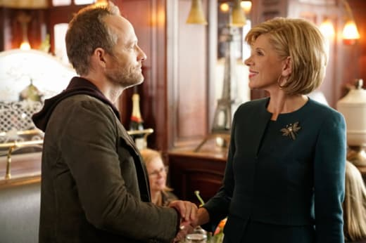 Diane and a client - The Good Fight
