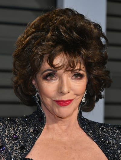Joan Collins Attends Oscars Event