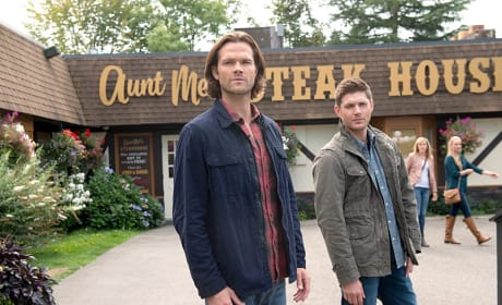 Sam and Dean at the Steak House - Supernatural Season 11 Episode 4