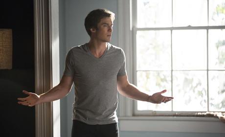 What, Damon Worry? - The Vampire Diaries Season 7 Episode 4