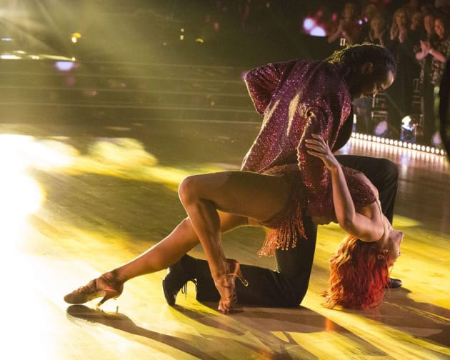 Josh Norman and Sharna Burgess - Dancing With the Stars: Athletes Season 26 Episode 1