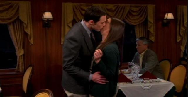 Sheldon Kisses Amy!