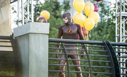 The Flash Photos: Atom-Smasher is a Party Pooper!