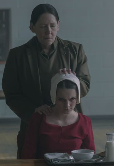 Aunt Lydia and Esther - The Handmaid's Tale Season 4 Episode 9