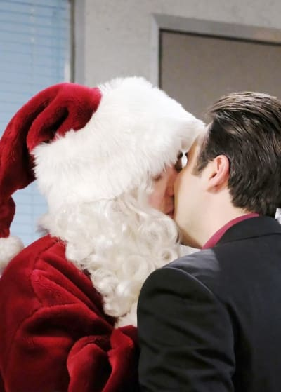 Kissing Santa Claus - Days of Our Lives