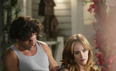 Intimate scene between Kat and Raymond