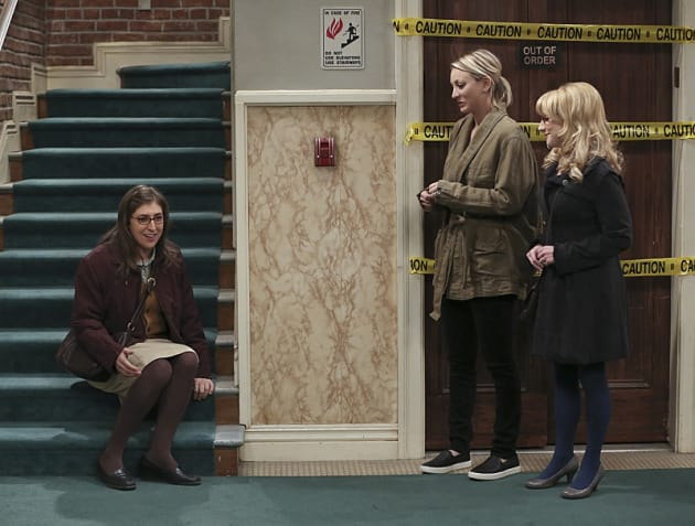 Amy Sure Looks Happy - The Big Bang Theory Season 9 Episode 11