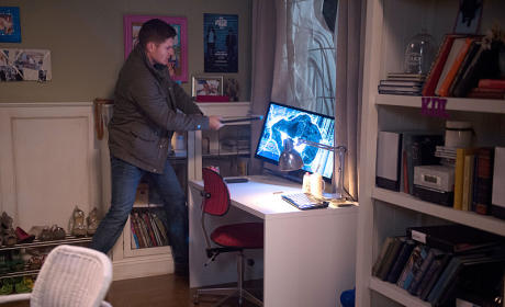 Dean Breaking Computers - Supernatural Season 10 Episode 13