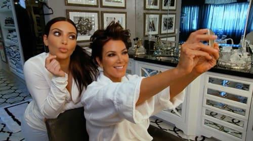 Kim and Kris Selfie