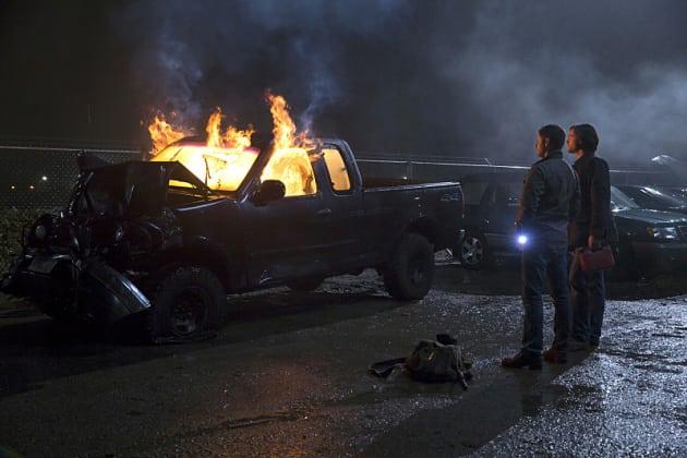 Burning Truck - Supernatural Season 10 Episode 13